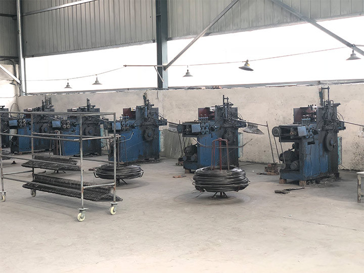 our customer's hanger making machine facrory