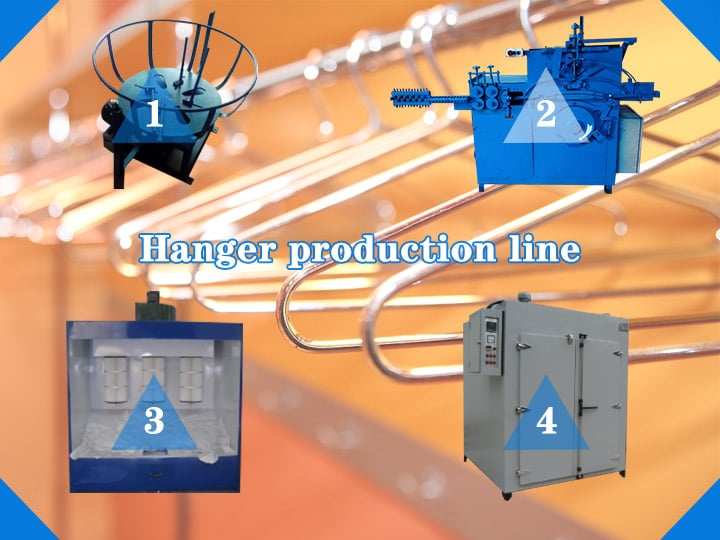 the hanger production line
