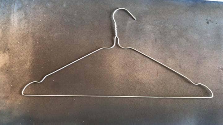 designed hanger shape