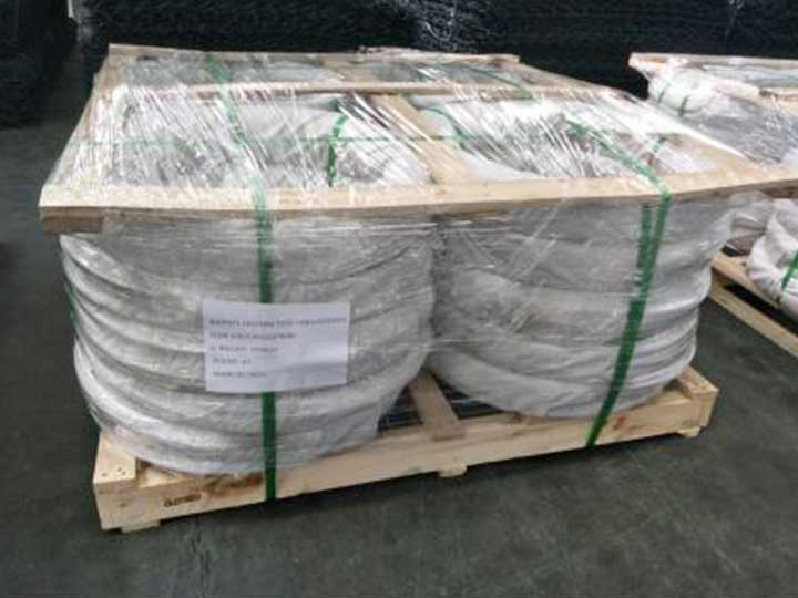galvanized iron wire packaging for shipping