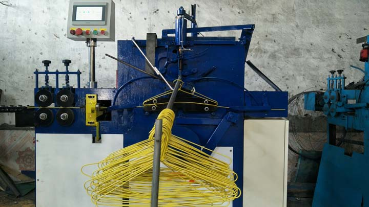small hanger machine shipped to Spain